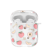 Чехол Kingxbar Fruit для Apple Airpods Peach